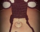 Crochet little buck beanie