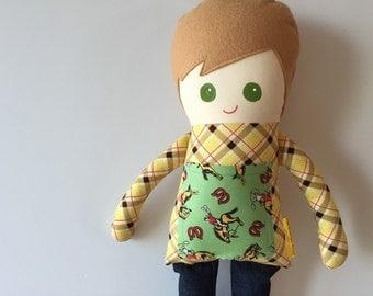 Boy Sweetie, a Plush Doll, Rag Doll, Boy Doll