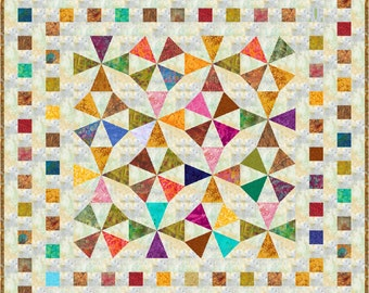 "NEW - JIMBARAN - Batik - Lap 53"" x 53"" - Quilt-Addicts Pre-cut Quilt Kit or Finished Quilt"