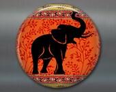 elephant magnet, colourful fridge magnet, animal art magnet, kitchen decor, large magnet for fridge, big magnet housewarming gift MA-1031