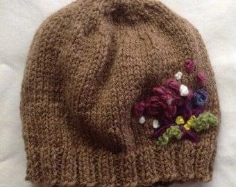 The Florist - a handknit beanie