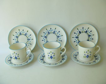 Vintage Swiss Alpine Dishes, Cups, Marcrest