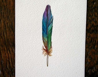 Feather Painting - Rainbow Feather