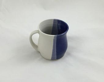 Blue and White Mug Pottery Handmade by Daisy Friesen