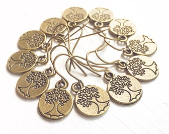 10 Pairs of Earrings Tree of Life Wholesale / Bridesmaids Bridal Party Gifts Favors / Retail Resale Boutique Shop Wedding Boho Lot LARP