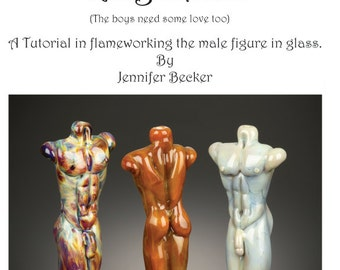 King Zeus - lampwork tutorial in creating a male torso in glass- Instant Download