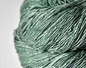 Glass frog - Tussah Silk Fingering Yarn