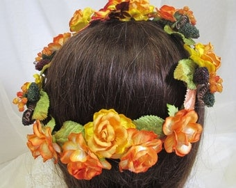 Vintage Fruit & Golden Florals--Victorian, Civil War Appropriate--Affordable Elegance