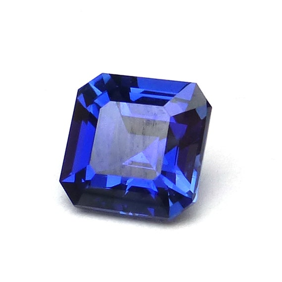 Blue Sapphire Asscher Cut Loose Gemstone Perfect for by ...