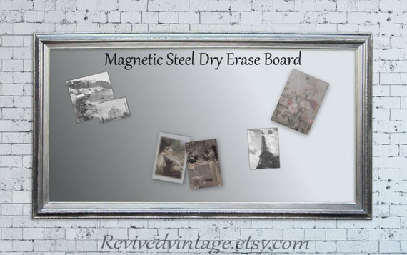 dry erase stainless steel magnetic board for sale modern metal magnetic long narrow 53 x29. Black Bedroom Furniture Sets. Home Design Ideas