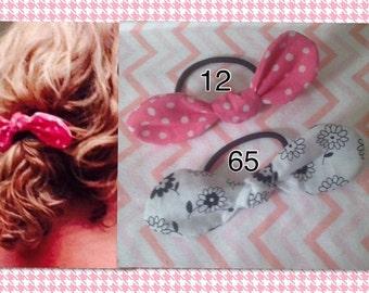 Hair Bow, Hair Bow Ponytail Holder, Bow Headband, Fabric Bow Hair Band, Hair Bow