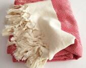 Fire Handwoven Red Beach Towel