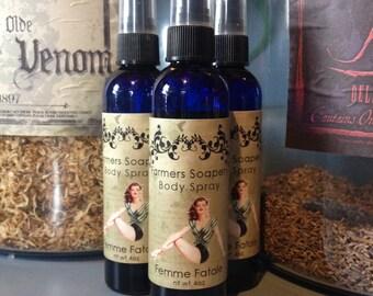 Femme Fatale Scented 4oz Body Spray - Vanilla, Musk, Florals