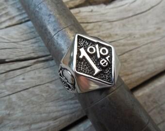 1 %er biker ring made in stainless steel