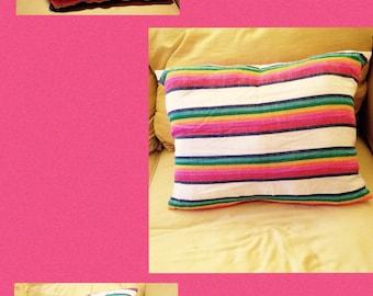 Rainbow Pillow (medium )