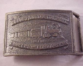 Brass Wells Fargo & Company Belt Buckle