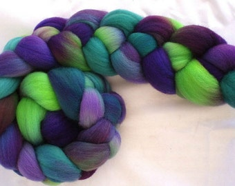 "Polwarth Top 4 Oz.  ""Delphinium"" for Spinning or Felting"