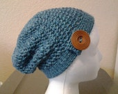 crochet womens slouchy hat-custom made