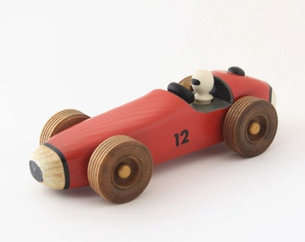 Handcrafted Pinewood Racer