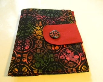 Black and Red Mandala Batik  ipad Cover