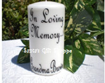 Wedding Rememberance Candle Decal - CANDLE NOT INCLUDED - Loved One - In Loving Memory - Family Rememberance - Vinyl Decal