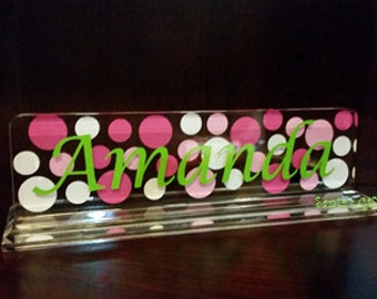 Name Plate - Teachers Name Plate - Desk Name Plate - Acrylic Name Desk Plate -Teachers Gift - Christmas Gift