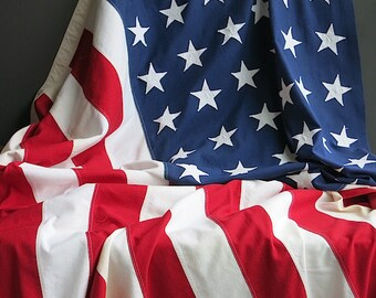 Large 48 Star American Flag -  9 Foot Casket Coffin Burial Flag - Patriotic Red White and Blue Old Glory Decor - Pace San Juan Puerto Rico