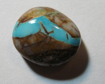 Natural Turquoise cab  ....    15 x 13 x 7 mm           .....    B2151
