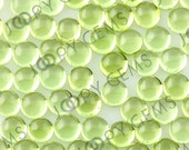 Peridot Cabochon 4mm Round - 1 cab, CPERSR4