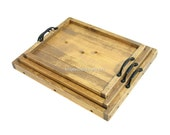 Nesting Trays, Stackable Ottoman Trays, Wooden Coffee Table Tray Set, Wedding Gift, Anniversary Gift, Housewarming Gift, Engraving Available