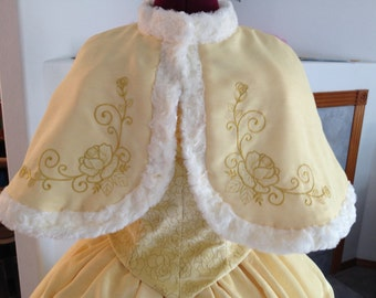 Medium  Belle Gold Embroidered Cape Capelet  4/8