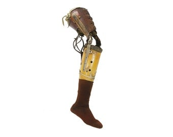 vintage medical prosthetic right leg