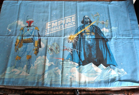 Vintage 1970s The Empire Strikes Back Star Wars Pillow Case