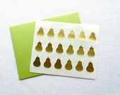 Pear Stickers / Labels in Gold Foil, Gloss White or Kraft