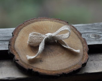 oak wood ring bearer pillow for wedding decor • ring bearer pillow