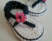 Carefree Sandals -- Made to Order -- Baby Girl Crochet Booties Crib Shoes