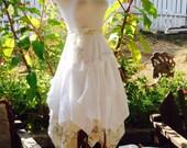 Custom order for Charlene wedding wrap skirt