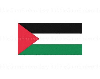 Palestine Flag Embroidery Design Instant Download