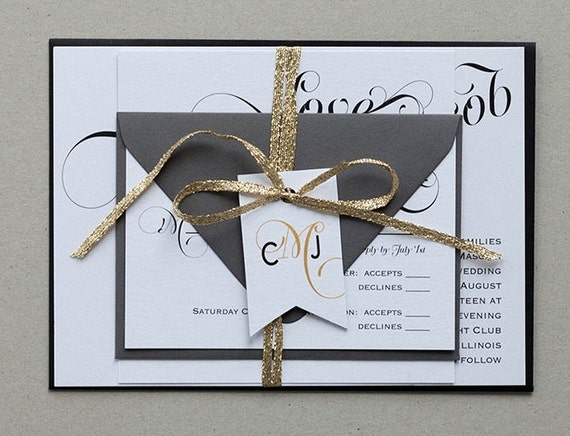 Modern Vintage Wedding Invitations,Elegant Calligraphy Wedding Invites,Modern Calligraphy Wedding Invitation, Modern Elegant Wedding Invite
