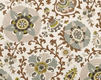 Silsila Rhinestone suzani brown gray taupe decorative pillow cover