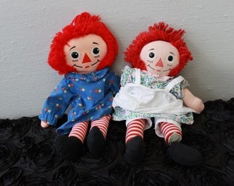 Vintage 60s and 80s Raggedy Ann Dolls