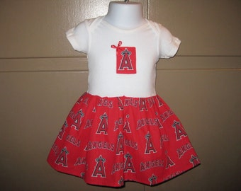 Size 3-9 Months Los Angeles Angels Onesie Dress  Li Li
