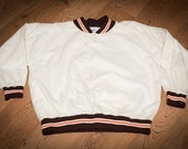 Retro Brown & Orange Ringer Style Nylon Jacket, BIKE Brand, Vintage 80s