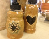 Pottery lotion, soap, toothbrush holders