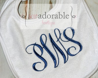 Monogrammed Bib - Choose your Color