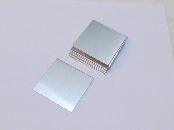 1 x 1 Aluminum Blanks//Hand stamping blanks//metal blanks //Stamping Blanks//Rectangle blanks//Dog tag blanks//Keychain Blanks//Supplies