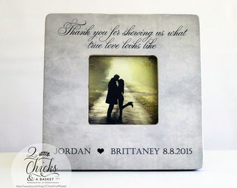 Thank You For Showing Us What True Love Looks Like Picture Frame, Personalized Parent Wedding Thank You Frame, Thank You Wedding Party Gift