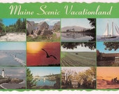 Maine Vintage Postcard - Maine Vacation Scenes