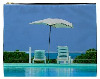 Tropical Paradise bag, Cosmetic makeup pouch, Beach zipper pouch, Beach bag, NirvanaRoad bag, Cruise ship pouch, wet bikini Bag, Swim bag