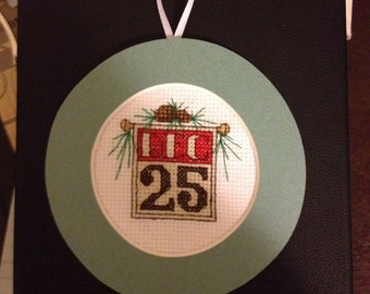 Dec 25 Cross Stitch Ornament